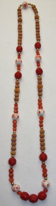 Cinnabar Beaded Necklace