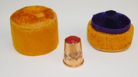 Gold Thimble And Case