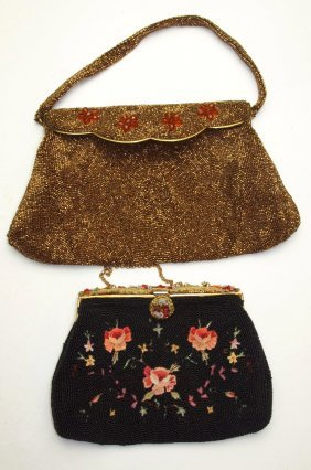Lot Of 2 Ladies Beaded Hand Bags, France & Belgium