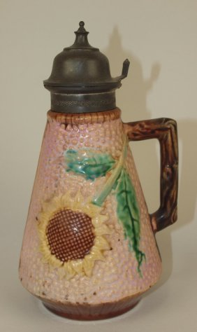 Etruscan Majolica Pink Sunflower Syrup, Wear