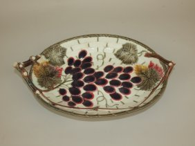 Wedgwood Majolica Grape Tray, 13""