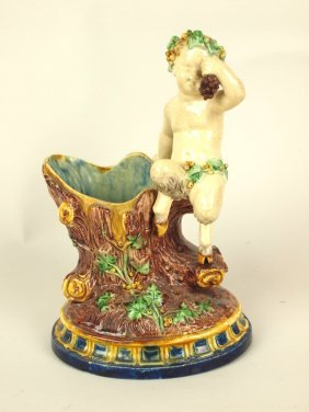 Thomas Sergent (attributed) Palissy Style Majolica