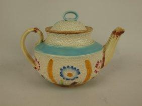 Majolica Fielding Daisy & Wheat Teapot