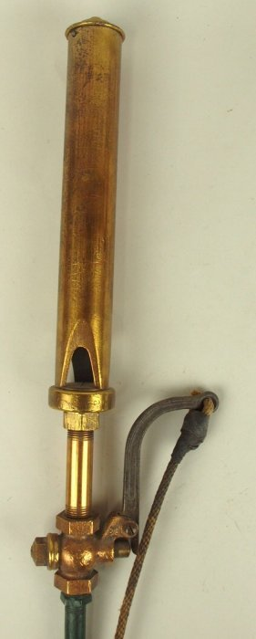Brass Steam Railroad Train Whistle, 18""
