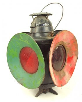 Handlan Railroad 4 Way Switch Light, Some Rust