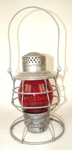 Adams & Westlake Railroad Lantern With Tall Red Ruby