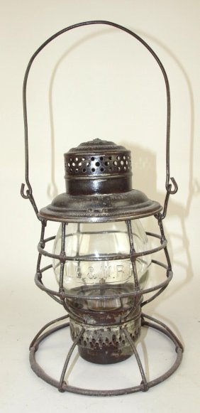 Adams & Westlake Railroad Lantern With Tall Clear