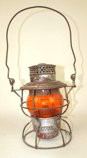 Adams & Westlake Railroad Lantern With Short Amber