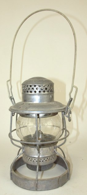 Adlake Railroad Lantern With Short Clear Globe, Lantern