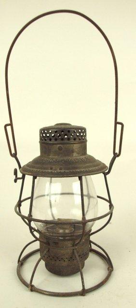 Adlake Railroad Lantern With Tall Clear Globe, Lantern