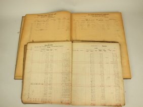 Box Of Railroad Ledger Books From Fort Wayne, Indiana,