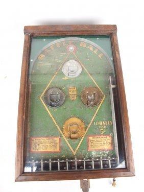 Baffle Ball 5 Cent Mechanical Pin Ball Machine By D.