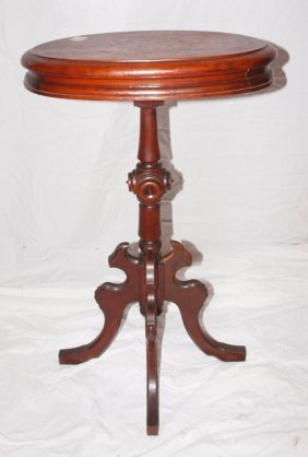 Walnut Victorian Small Candle Stand