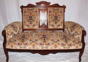 Walnut Victorian Settee