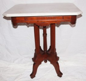 Marble Top Parlor Table