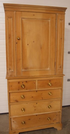 """Pine 2 Piece Cabinet, 75""""h, 34""""w"""