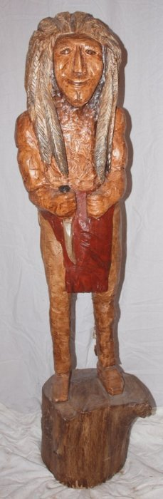 "Wooden Cigar Store Indian, 57""h"