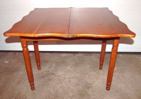 "Cherry Lift Top Turn Top Game Table, 34""w X 29""h"