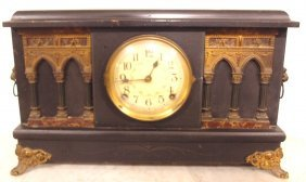 Sessions Black Mantle Clock