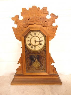 Waterbury Walnut Kitchen Clock