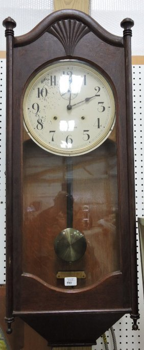 Seth Thomas Oak Wall Clock, 45""