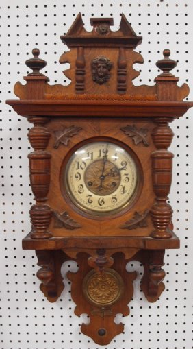 Walnut Victoria Wall Clock, 33""
