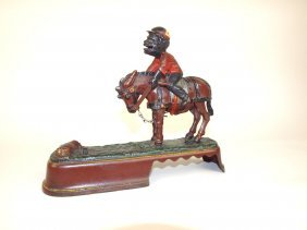 Always Did Spise That Mule Cast Iron Mechanical Bank