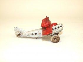 "Hubley Cast Iron Dox Airplane, 4 3/4"""