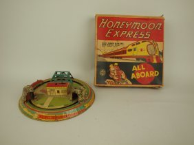 Marx Honeymoon Express Tin Lithograph Windup Toy With