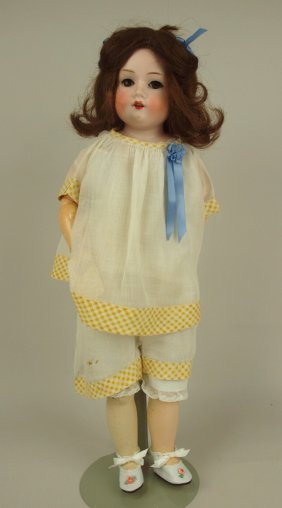 A & M 370 Bisque Head Doll, Open Mouth Composition