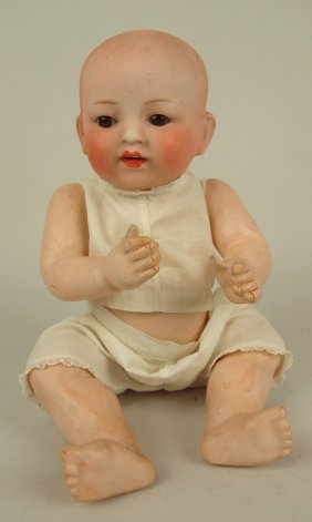 Bisque Head Baby Doll, 11""