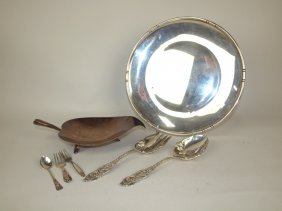 """Tiffany & Co. Sterling Silver Footed Leaf Tray 11"""","""