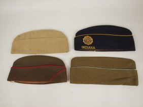 Lot Of 4 Panzer Military & Legion Hats