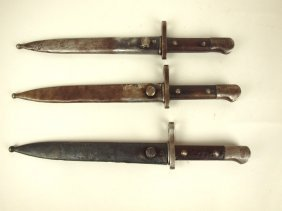 Lot Of 3 Bayonets, Scabbords: #137584, #115249, &