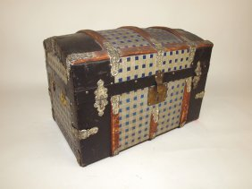 Child's Hump Back Doll Trunk, With Fitted Interior
