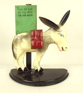 """Tin Donkey Cigarette Holder And Matchbox Holder, 10"""","""