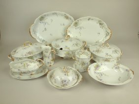 "Theodore Haviland Set Of China: 16"" & 14"" Platters,"