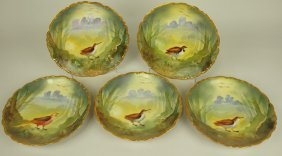 Elite Works Limoges Set Of 5 Game Bird Plates, 8 3/4""
