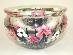 "John Lotton Multi Layer Cased Flora Art Glass Vase 9"""