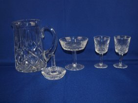 Waterford Crystal Lot: 10 Sherbets, 2 Wing Glasses,