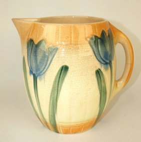 Roseville Tulip Pitcher, 7 1/2""