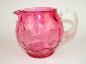 "Cranberry Coin Spot 5"" Pitcher"