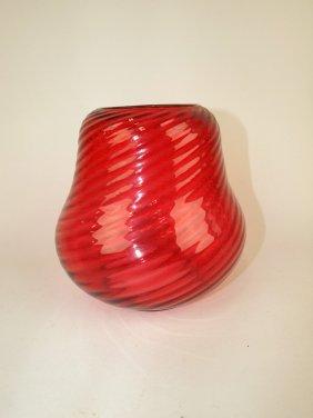 Cranberry Swirl Hall Lamp Shade