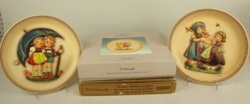 Hummel Lot Of 4 Anniversary Plates, 2 With Boxes