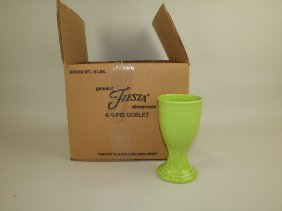 Fiesta Post 86 Set Of 4 Wine Goblets, Nib