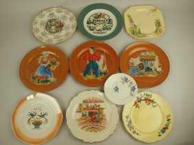 Homer Laughlin & Wells Are China Lot Of 10 Plates,