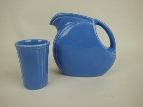 Riviera Mauve Blue Juice Pitcher & Tumbler