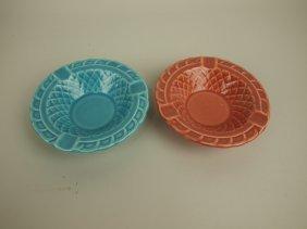 Fiesta Harlequin Basketweave Ash Tray Group: Turquoise