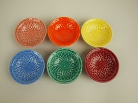 Fiesta Harlequin Nut Cup Group Of 6