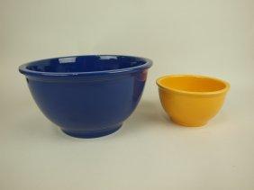 Fiesta Kitchen Kraft Large Cobalt Mixing Bowl And Small